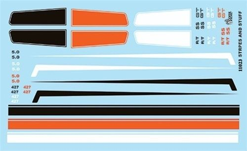 Gofer Racing Stripes and Panel Decals 1/24 1/25 11023 Model Detailing Accessory - Shore Line Hobby