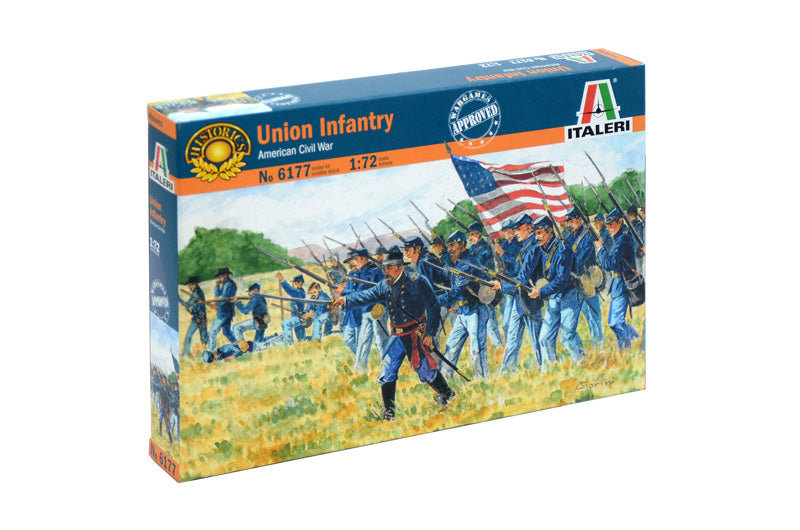 Italeri Union Infantry American Civil War 1/72 6177 Plastic Model Kit - Shore Line Hobby