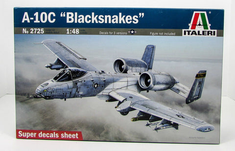 "Italeri 2725 A-10C ""Blacksnakes"" 1/48 New Military Airplane Model Kit"