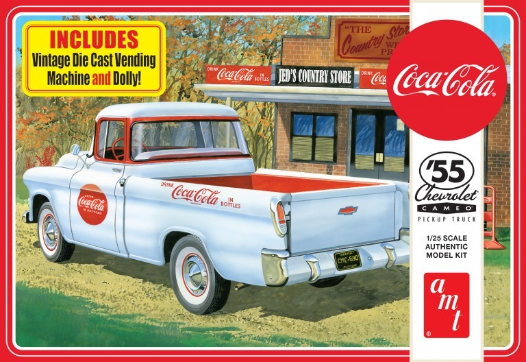 1955 Chevy Cameo Coca-Cola Pickup Truck AMT 1094 1/25