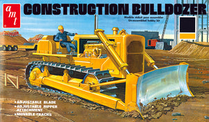 Construction Bulldozer 1/25 AMT 1086 Plastic Model Kit - shore-line-hobby