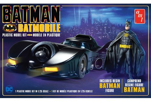 Batman 1989 Batmobile with Resin Figure AMT 1107 Plastic Model Kit
