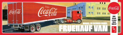Fruehauf Van Coca Cola Enclosed Trailer AMT 1109 1/25 Scale Plastic Model Kit - Shore Line Hobby