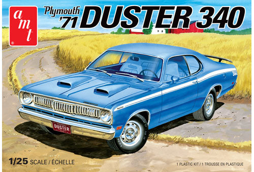 AMT 1971 Plymouth Duster 340 1/25 1118 Plastic Model Kit - shore-line-hobby