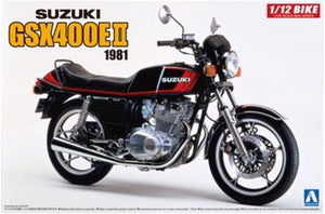 1981 Suzuki GSX400E II Aoshima 54574 1/12 Motorcycle Model Kit