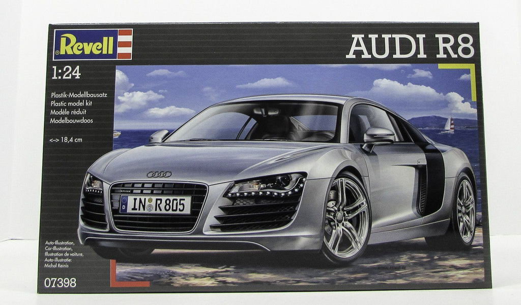 Revell 07398 Audi R8 1/24 New Car Plastic Model Kit - shore-line-hobby
