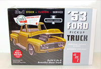 1953 Ford Pickup Truck New Plastic Model Kit AMT 882 1/25 - shore-line-hobby