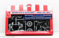 Double 1970s Dirt Bikes AMT Parts Pack PP014 1/25 New Motorcycle Model Kit - Shore Line Hobby