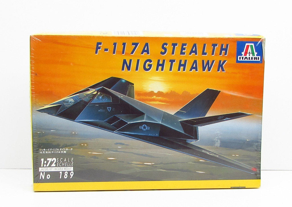 F-117A Stealth Nighthawk 1/72 Italeri #189 New Model Kit - Shore Line Hobby