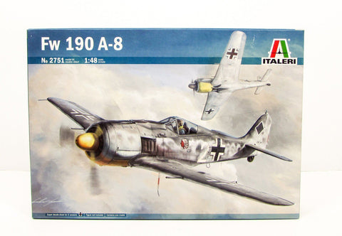 Fw 190 A-8 German WWII Aircraft Plastic Model Kit Italeri 2751 1/48