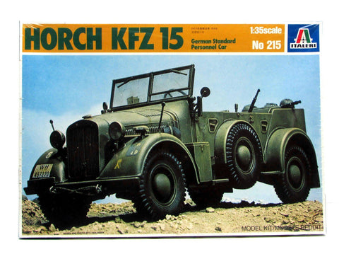 Horch Kfz 15 German Personnel Car 1/35 Scale Italeri #215 New Discontinued