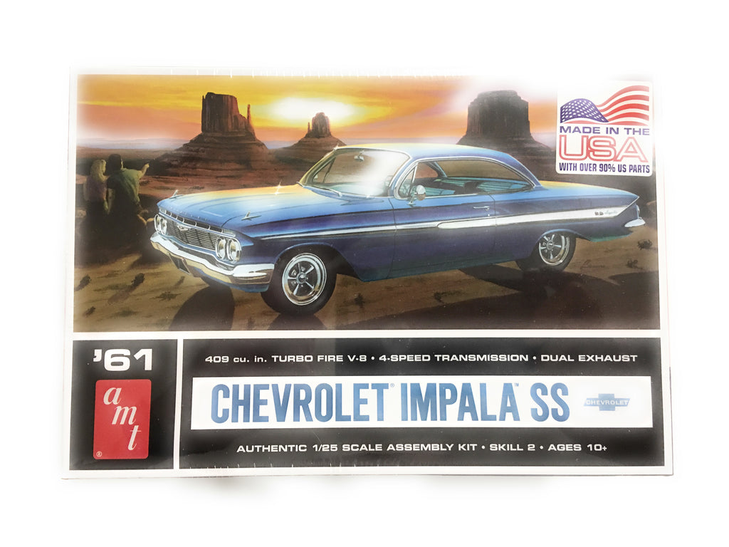 AMT 1961 Chevy Impala SS 1/25 1013 Plastic Model Kit - shore-line-hobby