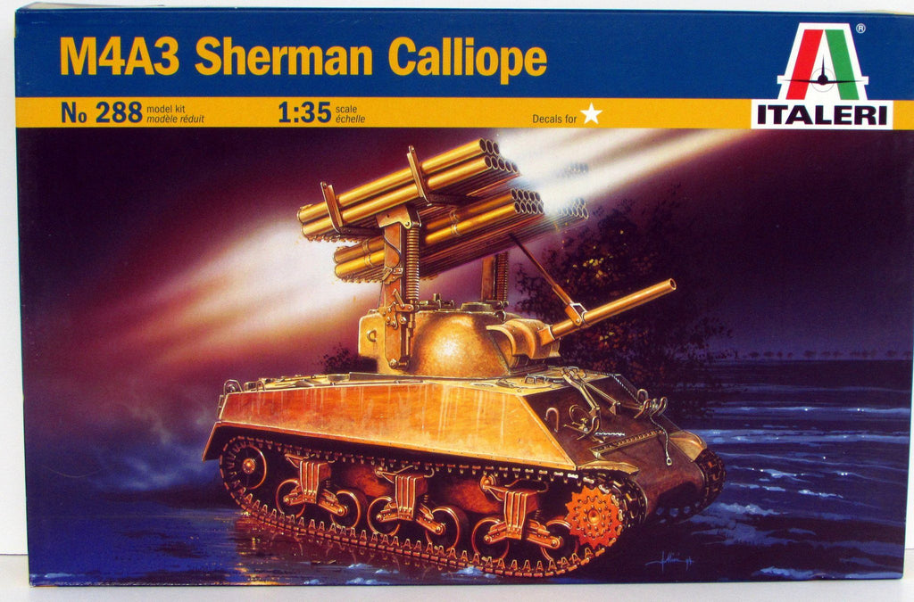 M4A3 Sherman Calliope Italeri 288 World War II Tank 1/35 Scale - Shore Line Hobby