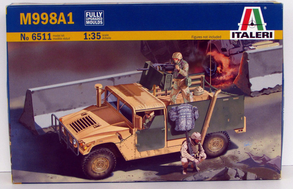 M998A1 Humvee Armored Vehicle Italeri 6511 New - Shore Line Hobby  - 1