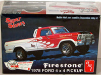 1978 Ford 4x4 Pickup Firestone AMT 858 1/25 New Truck Model Kit - shore-line-hobby
