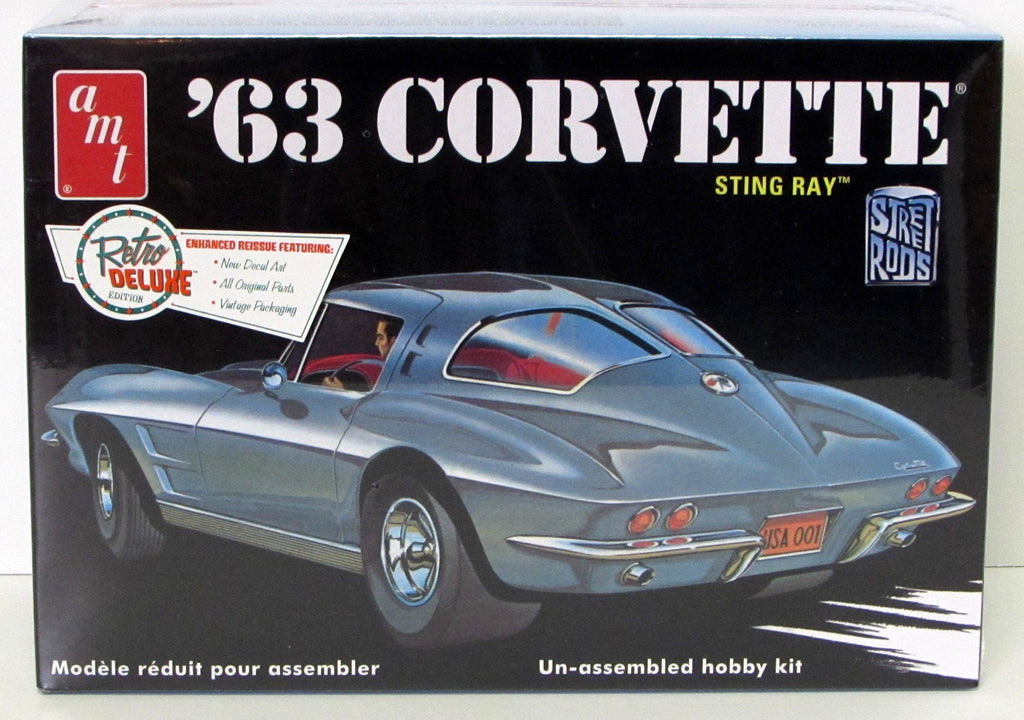 1963 Chevy Corvette Sting Ray Split-Window Coupe Street Rod  AMT 861 - 1/25 scale - Shore Line Hobby