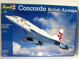 Concorde British Airways Revell #04997 1/72 Scale New Supersonic Airliner - shore-line-hobby