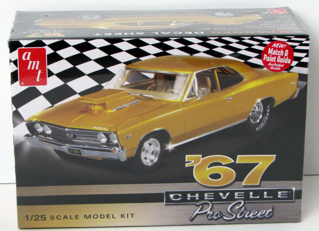 1967 Chevy Chevelle Pro Street AMT #876 1/25 New Model Car Kit - shore-line-hobby