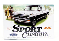 1972 Ford Sport Custom Truck Model Kit Moebius 1220 1/25 - shore-line-hobby
