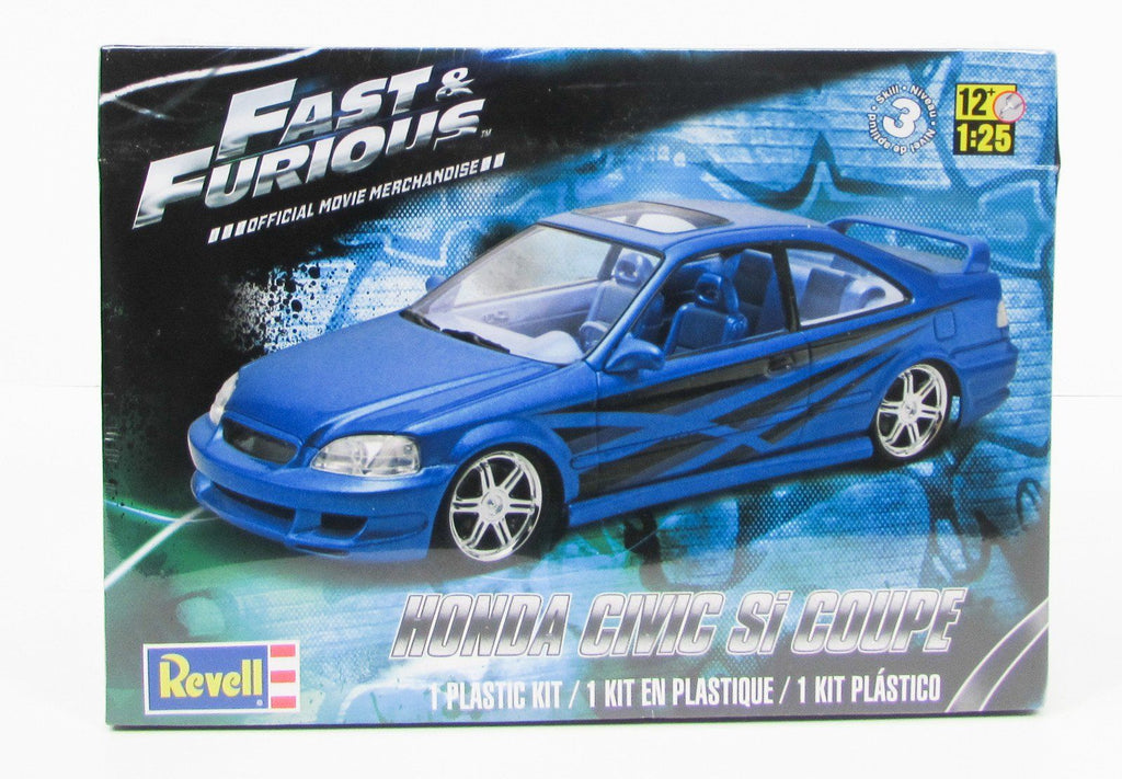 Fast & Furious Honda Civic Si Coupe Revell 85-4331 1/25 New Car Model Kit - Shore Line Hobby