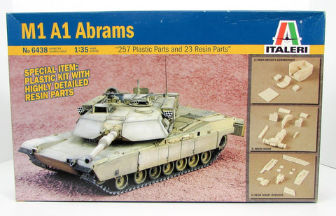 M1 A1 Abrams US Army Tank Italeri 6438 1/35 New Armor Model Kit