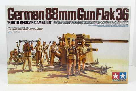 German 88mm Gun Flak 36 Tamiya 35283 1/35 New Model Kit