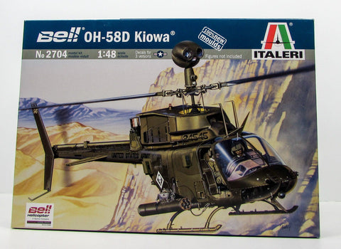 Italeri 2704 Bell OH-58D Kiowa New 1/48 Helicopter Model Kit