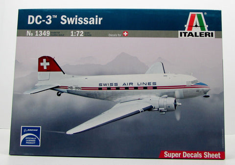 Italeri 1349 DC-3 Swissair New 1/72 Plastic Airplane Model Kit