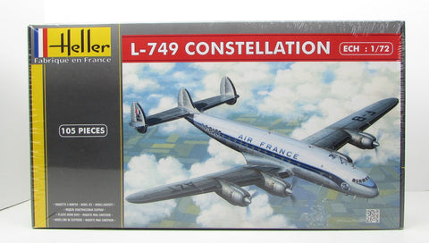 Heller 80310 L-749 Constellation Air France 1/72 New Airplane Plastic Model Kit