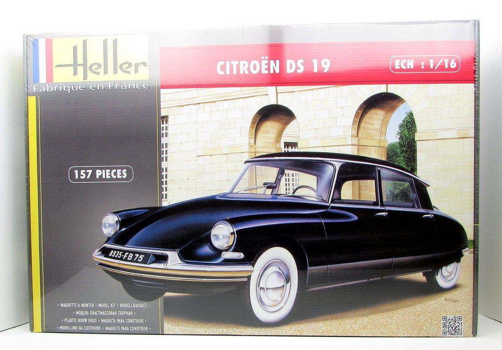 Heller Citroen DS 19 80795 1/16 New Plastic Model Car Kit - Shore Line Hobby