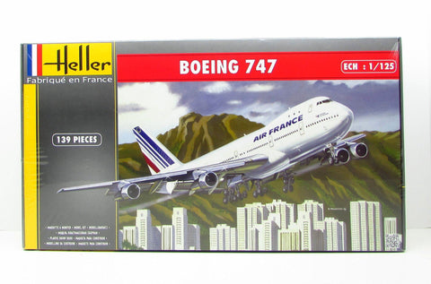 Heller 80459 Boeing 747 Air France  New Airplane Plastic Model Kit