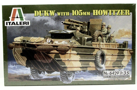 DUKW with 105mm Howitzer Italeri 6429 1/35 New Military Armor Model Kit