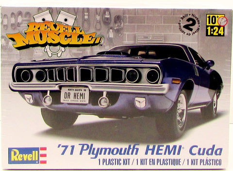 Revell 1971 Plymouth HEMI Cuda 85-2943 1/24 New Plastic Model Car Kit
