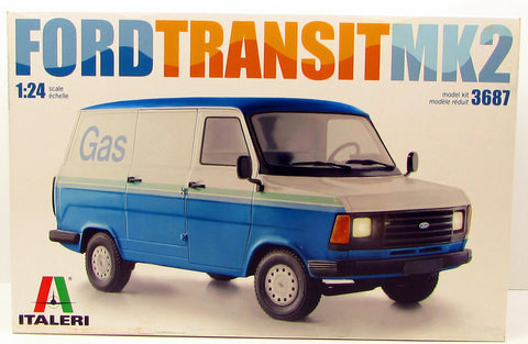 Italeri Ford Transit Mk 2 3687 1/24 New Truck Plastic Model Kit