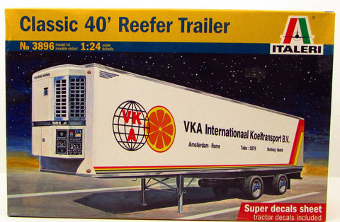 Italeri Classic 40' Reefer Trailer 3896 1/24 New Plastic Model Truck Kit