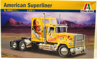 Italeri American Superliner 3820 1/24 New Plastic Truck Model Kit - shore-line-hobby