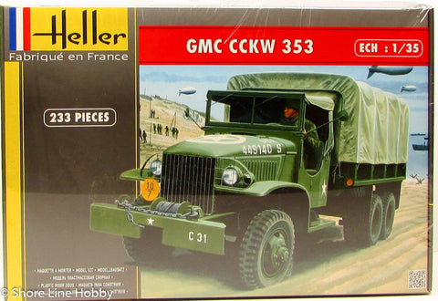 Heller GMC CCKW 353 Army Transport Truck 81121 1/35 Plastic Model Military Kit