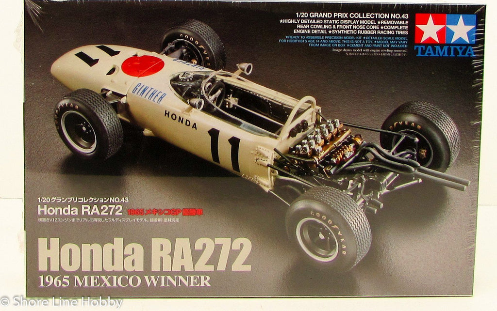 Tamiya Honda RA272 1965 Mexico GP Winner 20043 1/20 New Race Car Model Kit