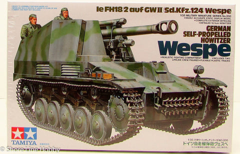 Tamiya Wespe German Self-Propelled Howitzer 35200 New Armor Plastic Model Kit