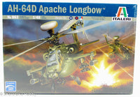Italeri AH-64D Apache Longbow 863 1/48 New Plastic Model Kit Helicopter