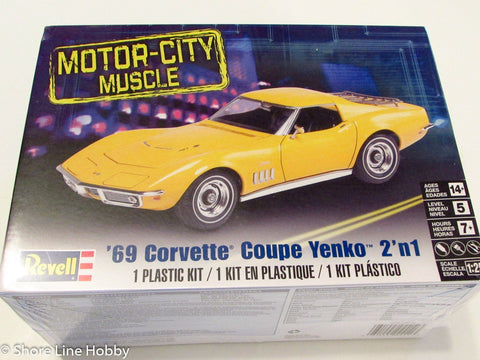 Revell Monogram 1969 Corvette Coupe Yenko 85-4411 1/25 Car Plastic Model Kit