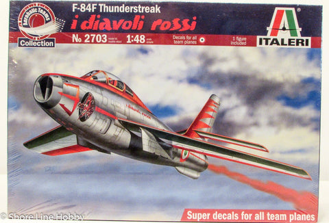 Italeri F-84F Thunderstreak Italian Aerobatic Team Plane 1/48 2703 Plastic Model