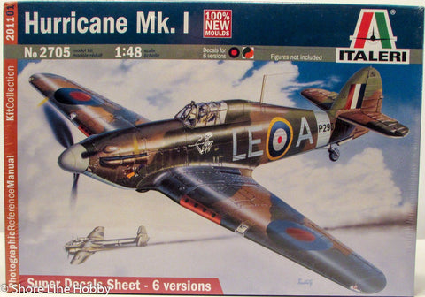 Italeri Hurricane Mk. 1 British Fighter WWII 2705 1/48 Plastic Model Airplane