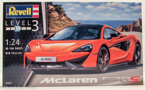 Revell McLaren 570S Sports Car 07051 1/25 Plastic Model Kit Car