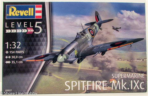 Revell Supermarine Spitfire Mk.IXc WWII Aircraft 03927 1/32 Plastic Model Kit