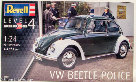 Revell VW Beetle Police 07035 1/24 Plastic Model Kit Car Volkswagen