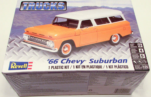 Revell Trucks '66 Chevy Suburban Plastic Model Kit 1/25 85-4409
