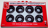 AMT M&H Racemaster Dragster Slicks Tires Pack of 8 PP003 1/25 - shore-line-hobby