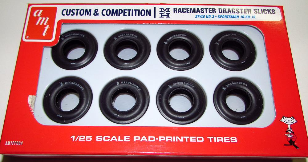 AMT M&H Racemaster Dragster Slicks Tires Pack of 8 PP004 1/25