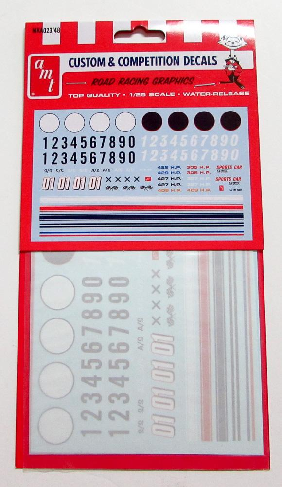 AMT Road Racing Graphics Water Release Decals 1/25 MKA023